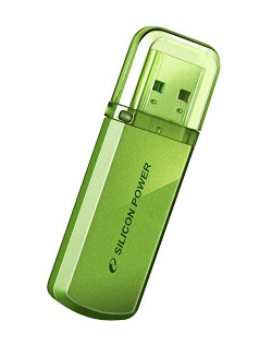 Флеш диск 32Gb Silicon Power Helios 101,Green,USB 2.0