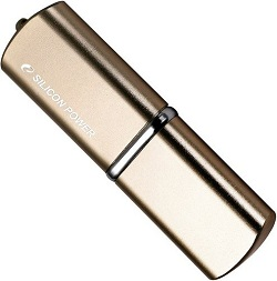 Флеш диск 8Gb Silicon Power LuxMini 720,Bronze,USB2.0,металл