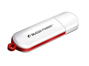 Флеш диск 32Gb Silicon Power LuxMini 320,Белый,USB 2.0