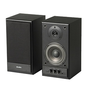 Колонки Sven SPS-702 2x20W,40-20000Гц,Black leather,дерево