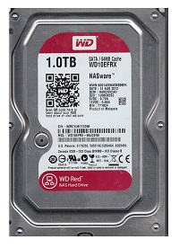 Жесткий диск WD SATA-III 1Tb WD10EFRX,Red,64Mb,3.5'