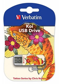 USB флеш Verbatim Mini Tattoo KOI FISH 32GB