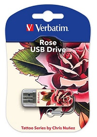 USB флеш Verbatim Mini Tattoo Edition Rose 32GB