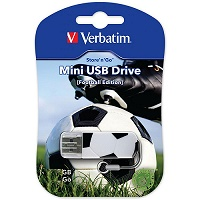 Флешка 16Gb USB2.0 Verbatim Mini Graffiti Edition Football
