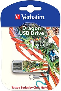 USB флеш Verbatim Mini Tattoo Edition Dragon 32GB