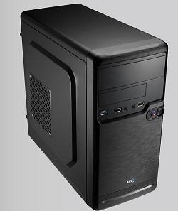Корпус mATX AEROCOOL Qs-182,Mini-Tower,нет БП,Black