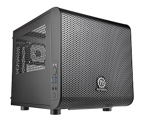 Корпус miniITX THERMALTAKE Core V1,Mini-Tower,без БП,Black